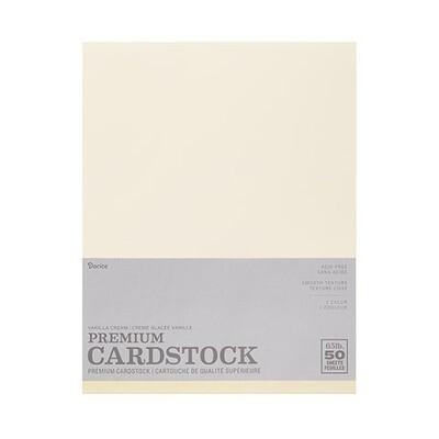Darice / Cardstock Vanilla Cream (Ivory), Pk-50