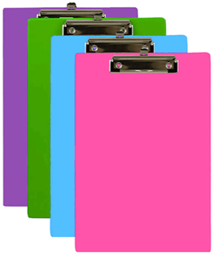 Bazic /  Bright Color Clipboard, Letter Size