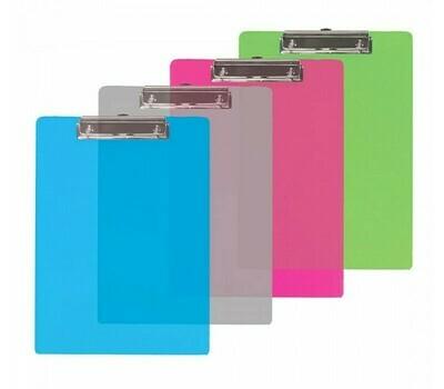 Bazic / Clipboard, Transparent, Plastic , Letter Size