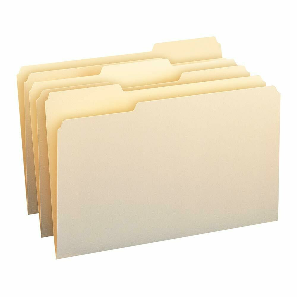 Atlas / File Folder, 1/3-Cut Tab, Legal Size, Manila, (bx-100)
