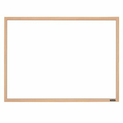 "Whiteboard, 17"" x 23"" Dry Erase Board, White Board, Oak Finish Frame <Pizarra>"