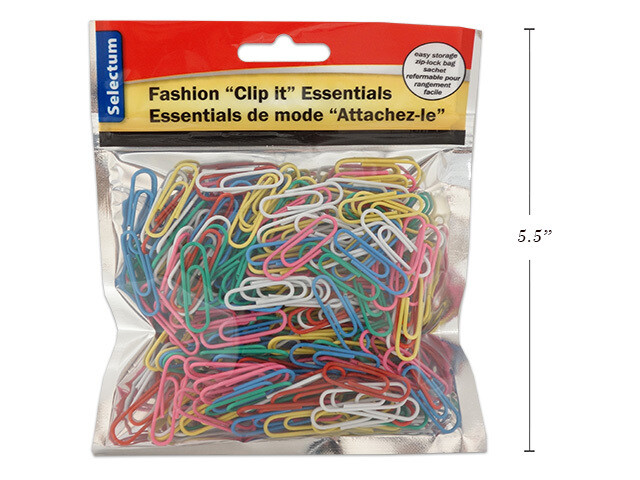 Link Products / Paper Clips #1 Assorted Colors  Pk-250