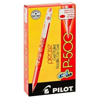 Pilot /Precise Gel Roller P500, Extra Fine, Red