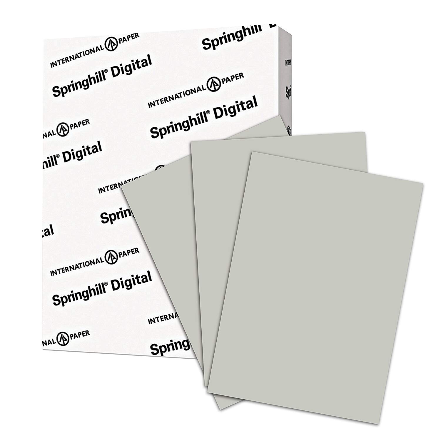Springhill / Colored Paper, Cardstock Paper, Gray Paper, 67lb, 147gsm, 8.5 x 11, 1 Ream / 250 Sheets - Vellum Card Stock, Thick Paper (066000R)