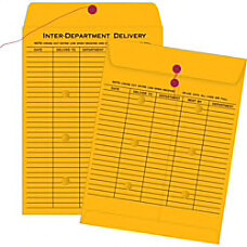"Interdepartment Envelopes, 10"" x 13"", Brown, Box Of 100"
