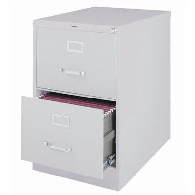Vertical File Cabinet, 2-Drawer, LEGAL, Gray