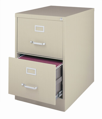 Vertical File Cabinet 2-Drawer, LETTER, Putty