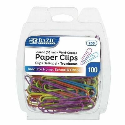 Bazic / Paper Clips Jumbo, Color, Pk-100