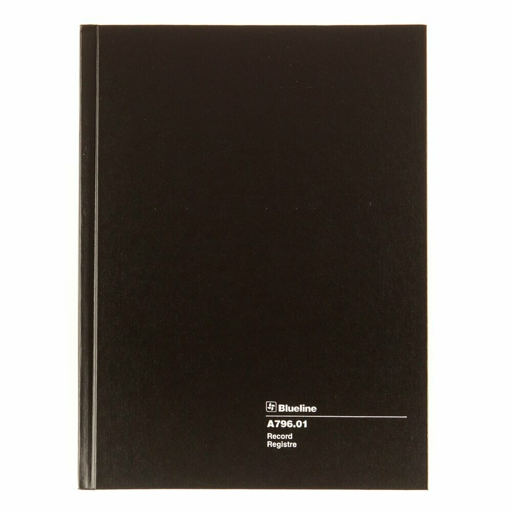 Blueline / Record Book, Black, 200 pages