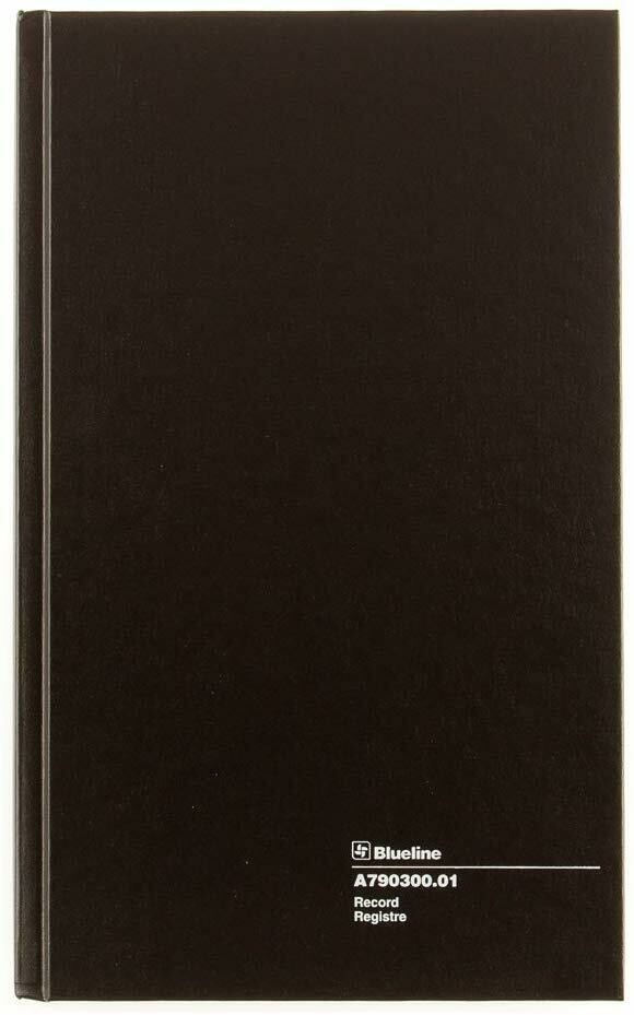 Blueline / Record Book, Black, 300 Pages