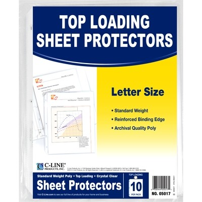 Avery / Sheet Protector Clear, Letter, Pk-10