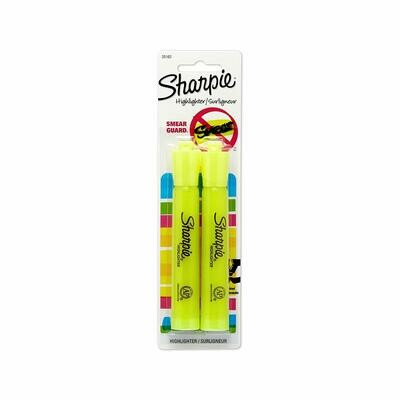 Sharpie / Accent Tank-Style Highlighter, Fluorescent Yellow, Pk-2