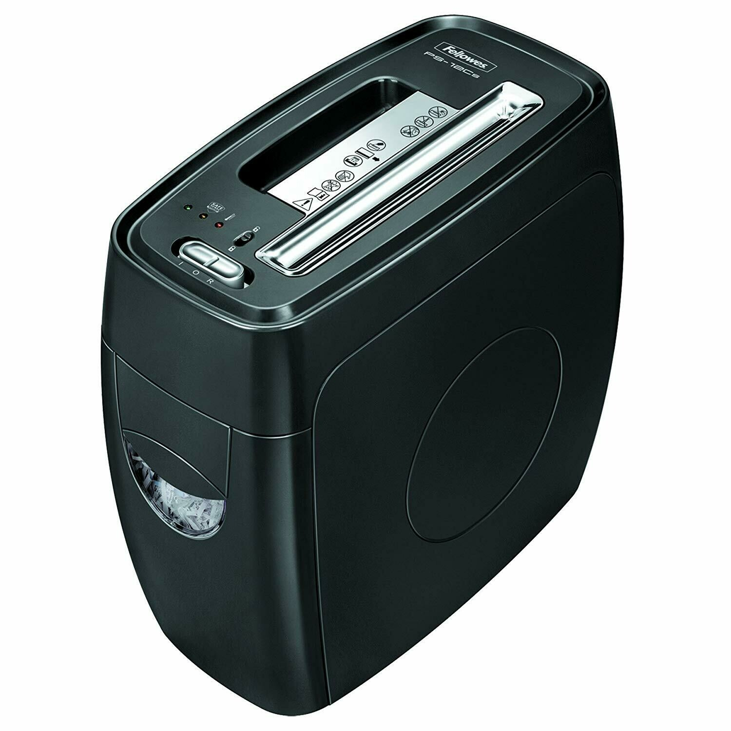 Fellowes / Powershred PS-12Cs 12 Sheet Cross-Cut Paper and Credit Card Shredder with SafeSense Technology