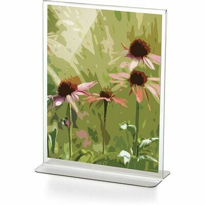 """Officemate / Upright Vertical Sign Holder, 8.5"""" x 11"""" Clear"""