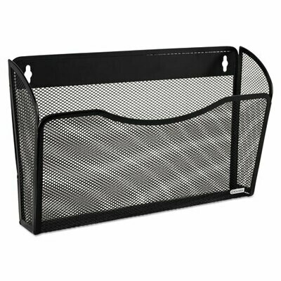 Rolodex / Single Pocket Wire Mesh Wall File, Letter, Black