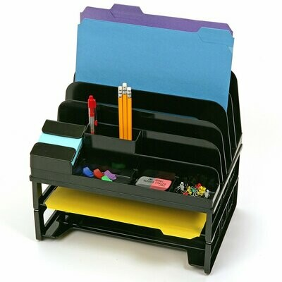 Officemate / Side Load Sorter and Organizer with Two Letter Trays