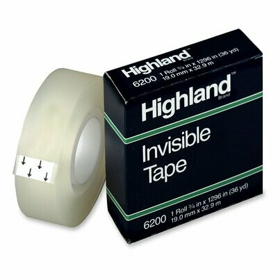 Highland / Invisible Tape 6200,  3/4