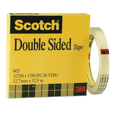 Scotch / Double-Coated Tape, 1/2