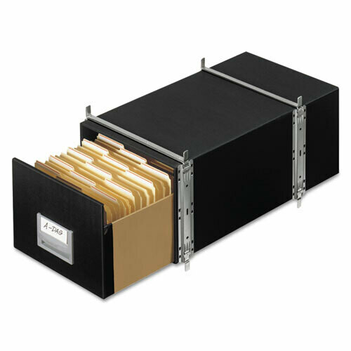 Fellowes / Staxonsteel Maximum Space-Saving Storage Drawers, Legal Files, Black, Pk-6