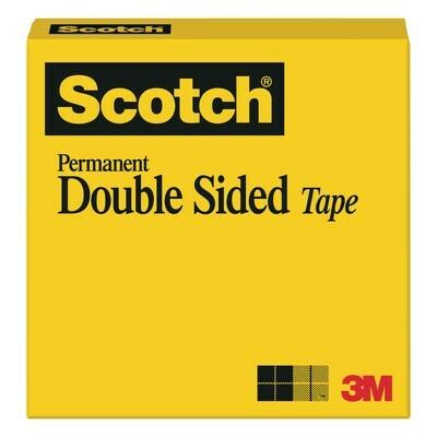 Scotch / Double-Coated Tape, 1/2 x 25 yds, [Pk-12]