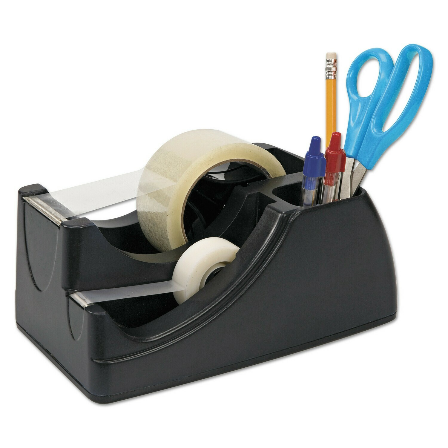 Officemate / Recycled 2-In-1 Heavy Duty Tape Dispenser, Black