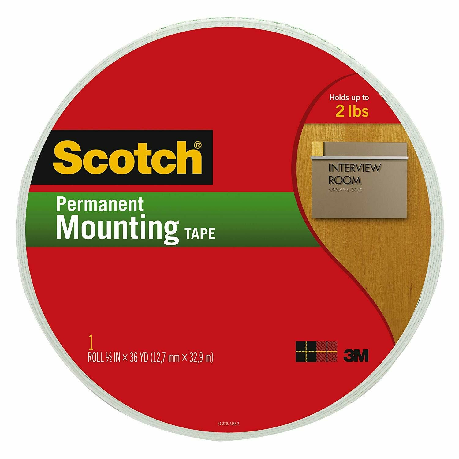 """Scotch / Indoor Mounting Tape 3/4"""" x 38 Yds"""