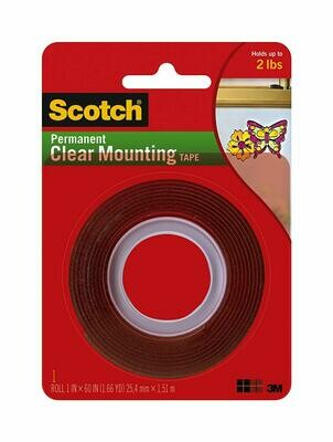 Scotch / Permanent Clear Mounting Tape 1