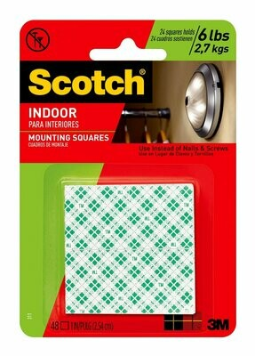 Scotch / Indoor Mounting Tape Squares, Removable