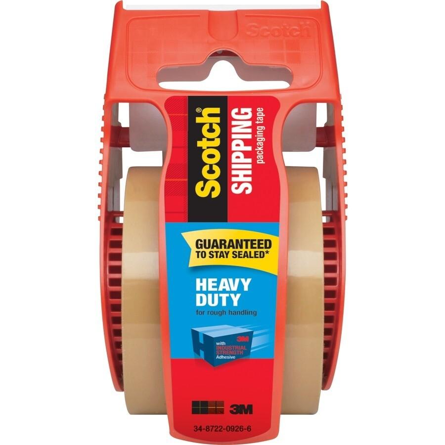 """Scotch / Heavy Duty Shipping Packaging Tape, Tan, 1.88"""" x 800"""""""