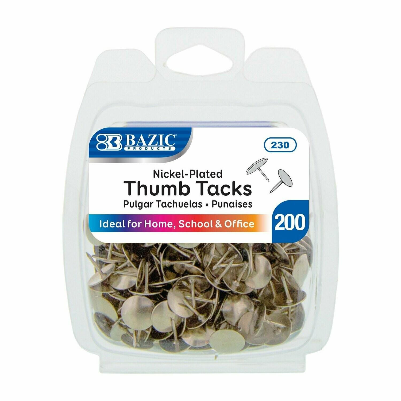 Bazic / Nickel (Silver) Thumb Tack