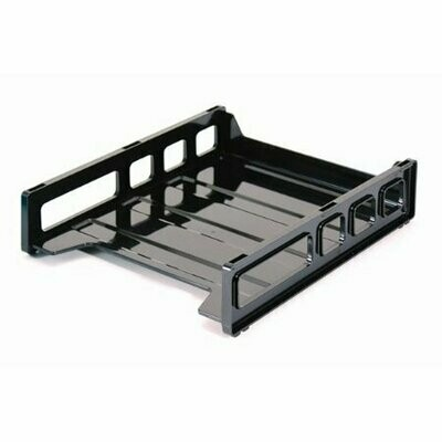 Officemate / Stacking Front Load Letter Tray, Black, Stackable