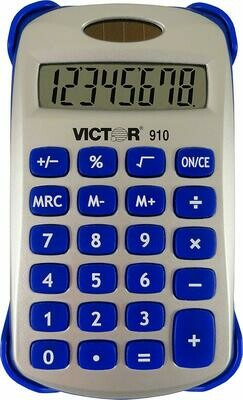 Victor Technology / 8 Digit Handheld Calculator with Cover, Assorted Bright Colors
