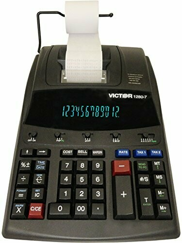 Victor Technology / 12 Digit Heavy Duty Commercial Printing Calculator, Wireless Data Relay