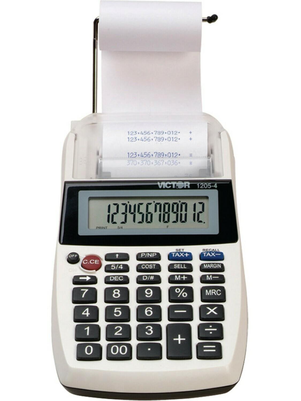 Portable Palm/Desktop Commercial Printing Calculator- 12 Digit