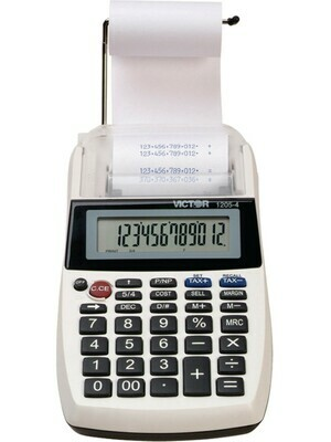 Portable Palm/Desktop Commercial Printing Calculator- 12 Digit