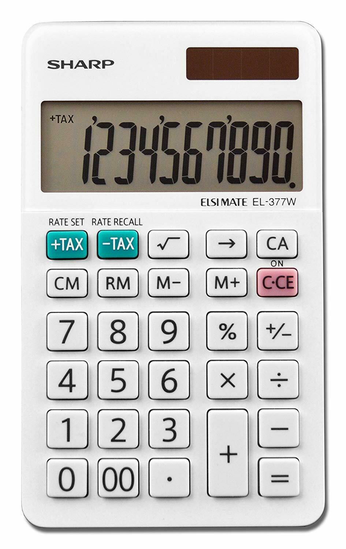 Sharp / 10-Digit Large Pocket Calculator,  LCD