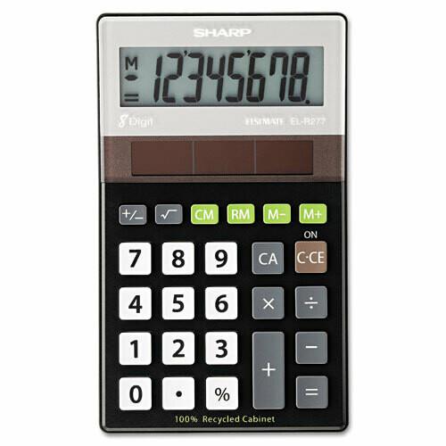 Sharp / 8-Digit Recycled Series Handheld Calculator, LCD