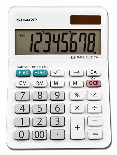 Sharp / 8-Digit Mini Desktop Calculator,  LCD