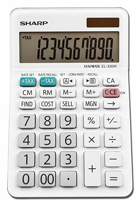 Sharp / 10-Digit Desktop Calculator, LCD