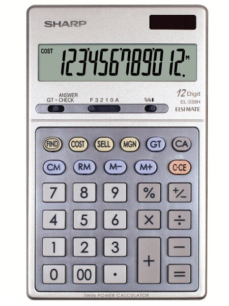 Sharp / 12-Digit  Executive Portable Desktop/Handheld Calculator, LCD
