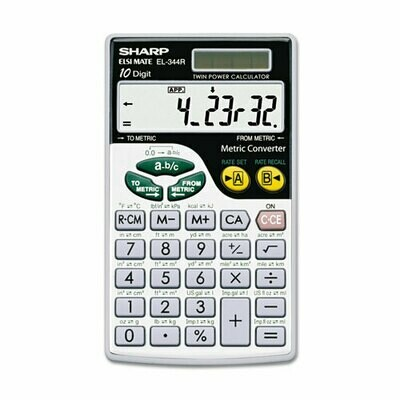 Sharp / 10-Digit Metric Conversion Wallet Calculator,  LCD