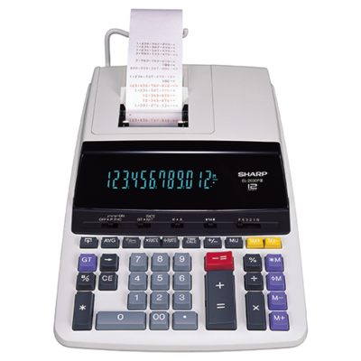 Sharp / 12 Digit Commercial Printing Calculator