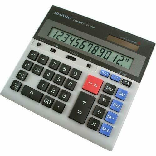 Sharp / 12 Digit Twin Powered Display Calculator