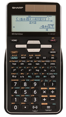Sharp / 16-Digit Advanced Scientific Calculator with WriteView 4 Line Display, Battery and Solar Hybrid Powered LCD Display