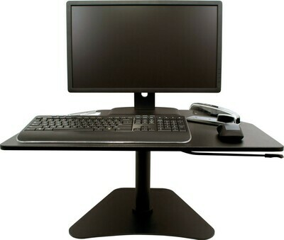 Victor Technology / High Rise™ Adjustable Stand-Up Desk Converter, Midnight Black