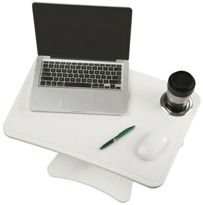 Victor Techonology / High Rise™ Height Adjustable Laptop Stand with Storage Cup, Pure White