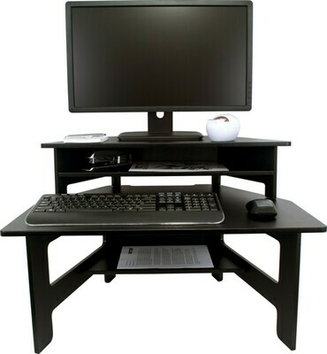 Victor Technology / High Rise™ Fixed Stand Up Desk Converter, Midnight Black