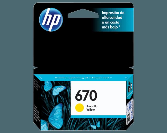 HP / 670 Yellow Original Ink Cartridge
