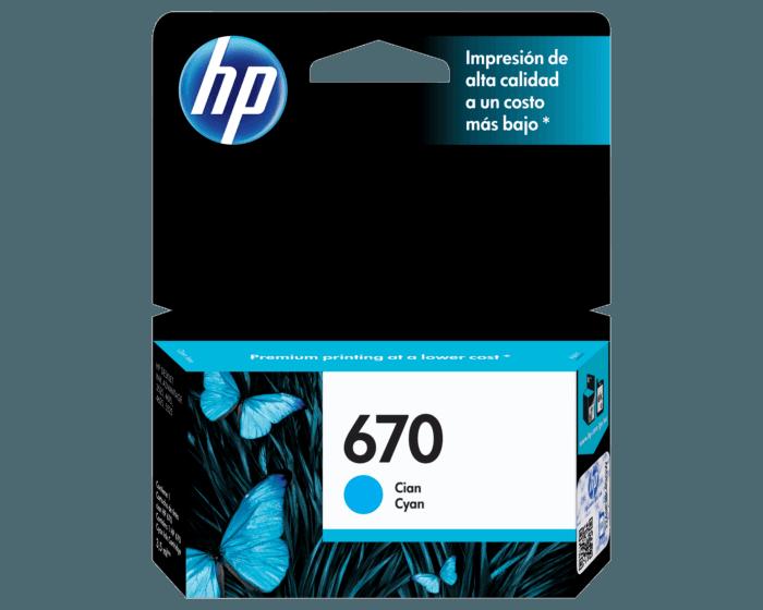 HP / 670 Cyan Original Ink Cartridge