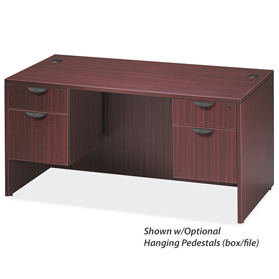"Desk Executive 30""x60"" Double Pedestal, Laminated"